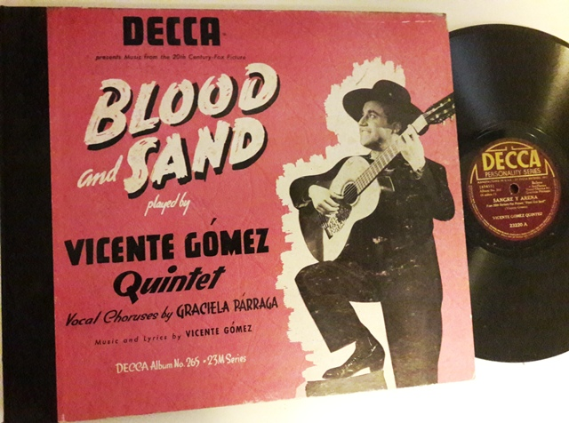Vicente Gomez - Blood and Sand - Decca Set 265 - 3x78 USA VG+