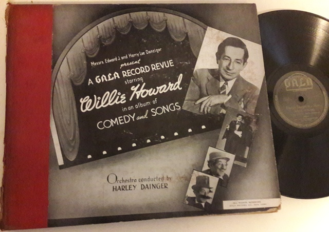 Willie Howard - Comedy & Songs - Gala Records Set No.1 - USA