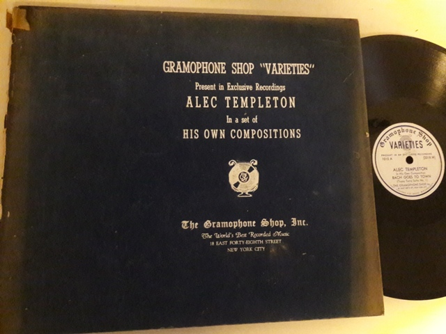 Alec Templeton - His own Compositions - Varieties Set 4 x 78 USA