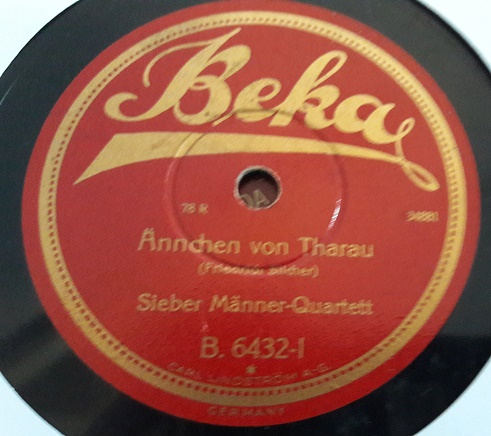 Sieber Manner Quartett - Annchen - Beka B.6432 Germany E