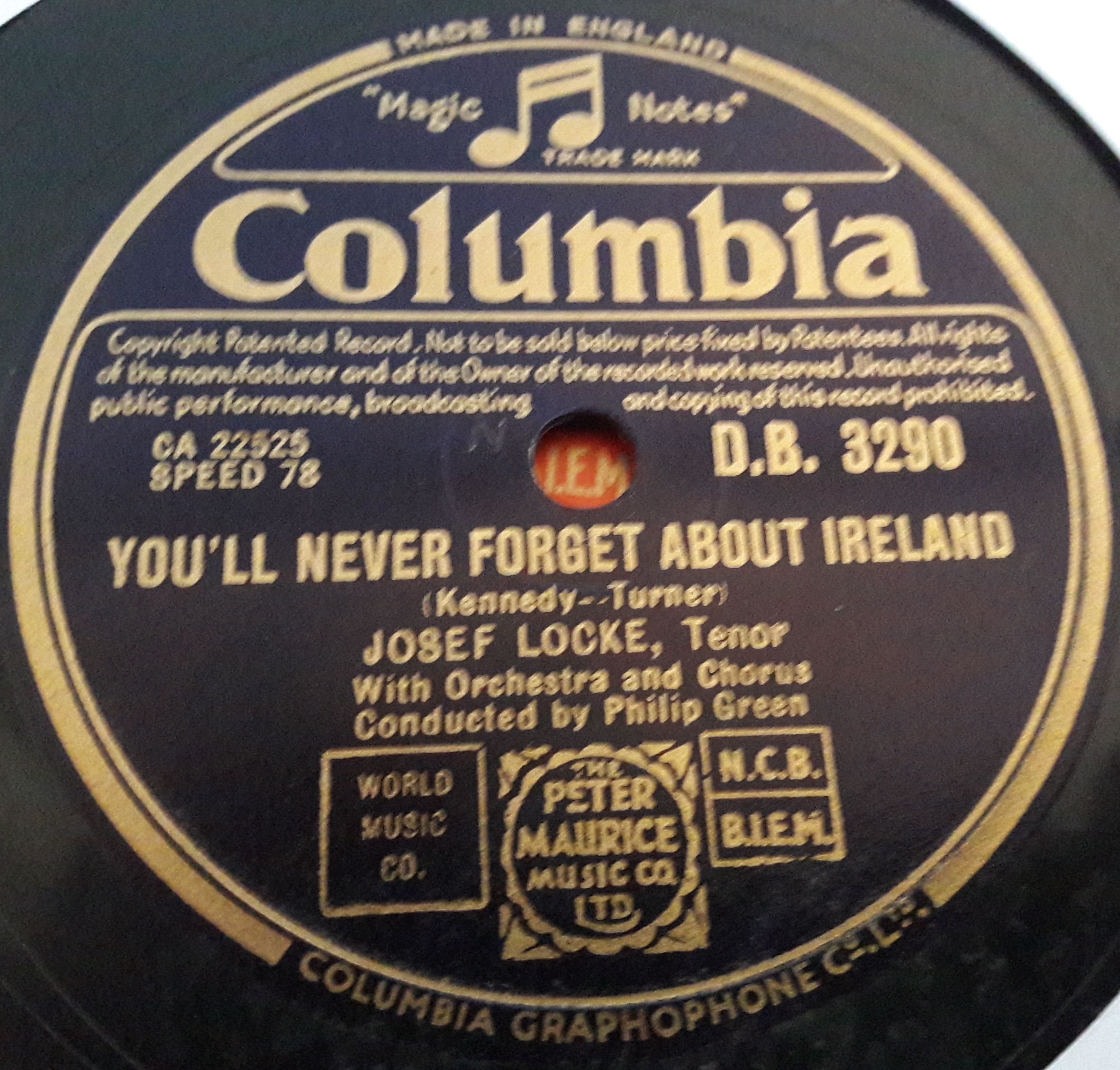 Josef Locke - We'll pray for you - Columbia DB.3290 E+