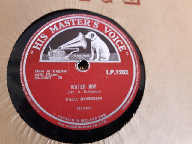 Paul Robeson - Steal Away / Water Boy - HMV IP.1262 Irish