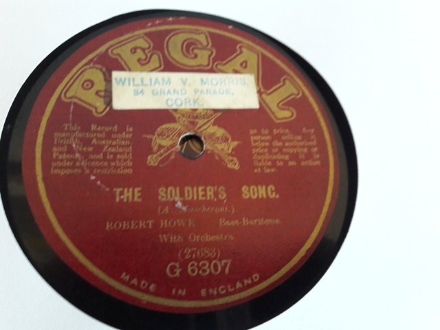 Robert Howe - The Soldiers Song - Regal G.6307 UK E