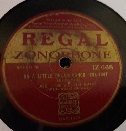 Joe Loss - September in Rain - Regal IZ.668 Irish VG