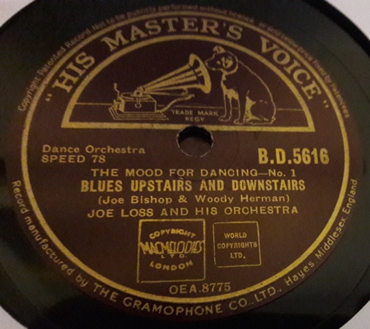 Joe Loss - Honky Tonk Train Blues - HMV BD.5616 UK N-