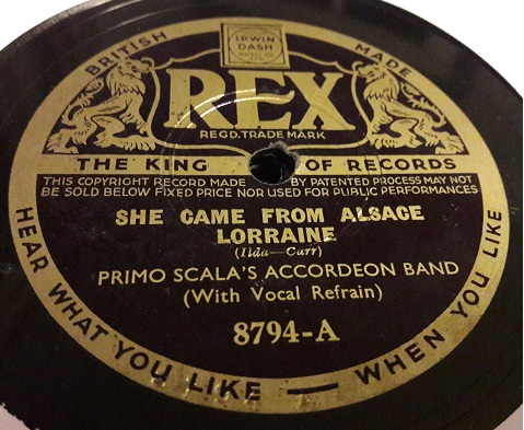 Primo Scala Accordion - She Came from Alsace Lorraine Rex 8794