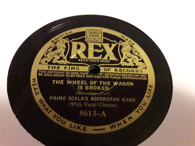 Primo Scala Accordion - Wheel of Wagon is Broken - Rex 8613 E