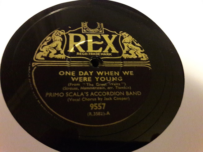 Primo Scala Accordion - One day when we were young - Rex 9557