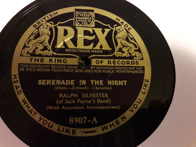 Ralph Silvester - Serenade in the Night - Rex 8907 E