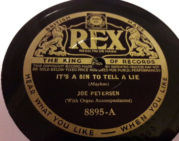 Joe Petersen - It's a sin to tell a lie - Rex 8895 E+