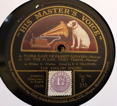 The English Singers - Since first I saw your face - HMV E.233