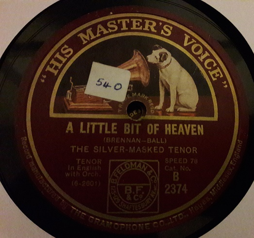 The Silver Masked Tenor - Mother Machree - HMV B.2374 E