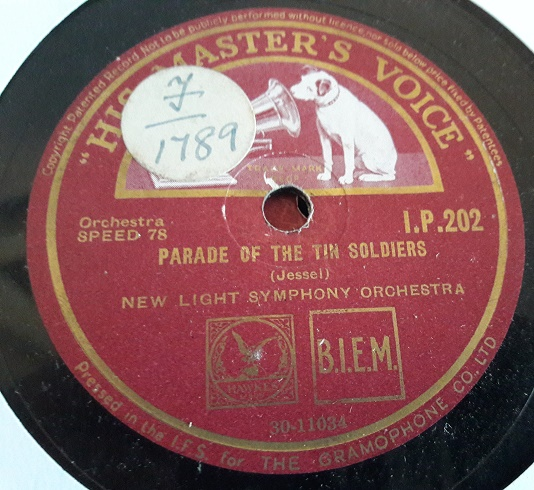 New Light Symphony Orchestra - Parade Soldiers - HMV IP.202