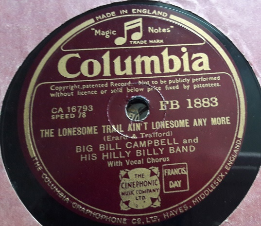 Big Bill Campbell & His Hill Billy Band - Columbia FB. 1883