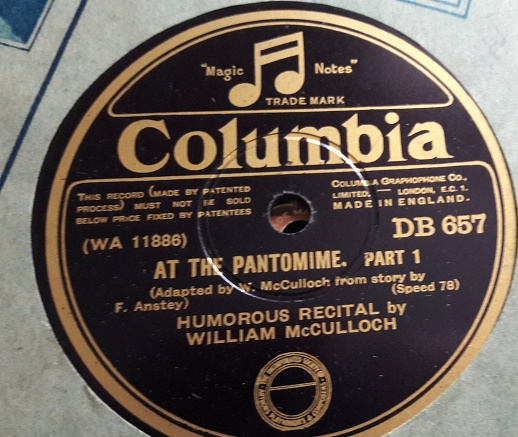William McCulloch - At the Pantomine - Columbia DB.657 E+