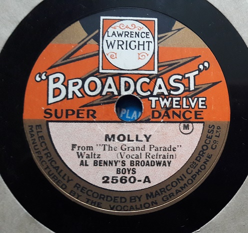 Al Benny's Broadway Boys - Molly - Broadcast Twelve 2560 E