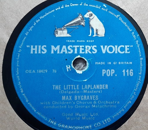 Max Bygraves - The Little Laplander - HMV POP.116 E-