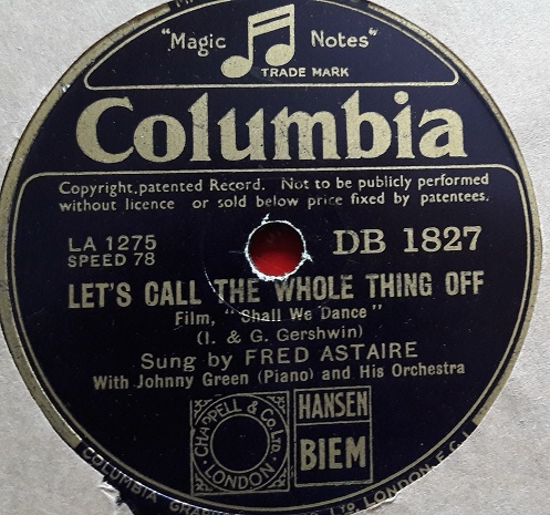 Fred Astaire - Let's call the whole thing off - Columbia DB.1827