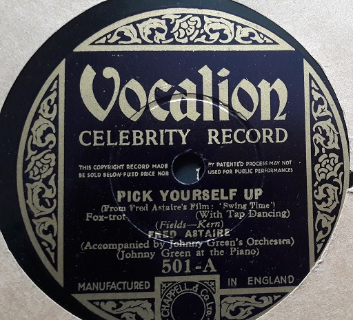 Fred Astaire - Pick yourself up - Vocalion 501 Stunning