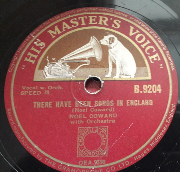 Noel Coward - There have been songs England - HMV B.9204 E-