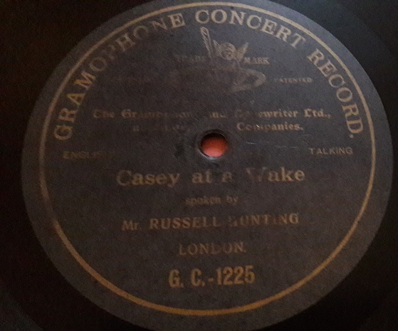 Russell Hunting - Casey at a Wake - Gramophone Concert G.C-1225