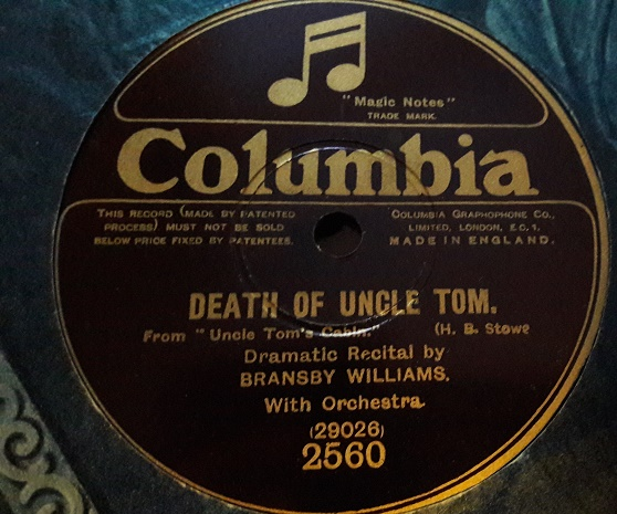 Bransby Williams - Death of Uncle Tom - Columbia 2560 E+