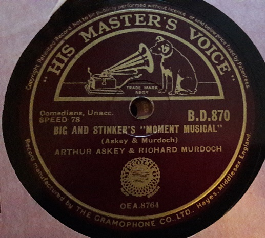 Arthur Askey & Richard Murdoch - Talking Shop - HMV B.D.870 N-