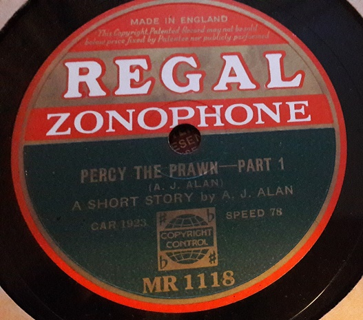 A.J. Alan - Percy the Prawn - Regal Zonophone MR.1118 E+