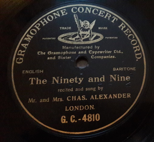 Chas Alexander - The Ninety and Nine - Gramophone Concert 4810