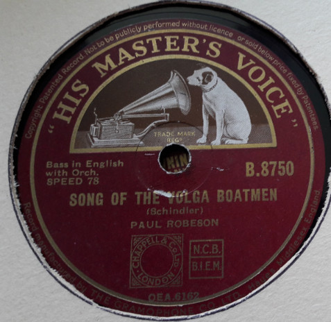 Paul Robeson - Song of the Volga Boatmen - HMV B.8750 E
