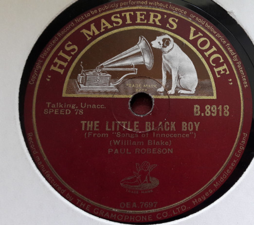 Paul Robeson - The Little Black Boy - HMV B.8918 E+