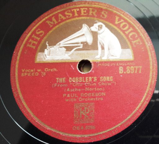 Paul Robeson - The Cobblers Song - HMV B.8977 E+