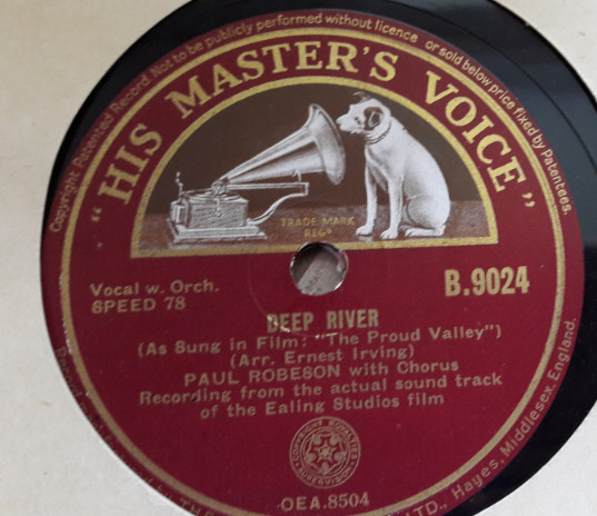 Paul Robeson - Deep River - HMV B.9024 E++