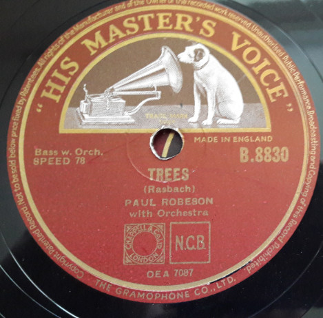 Paul Robeson - Songs my Mother taught me - HMV B.8830