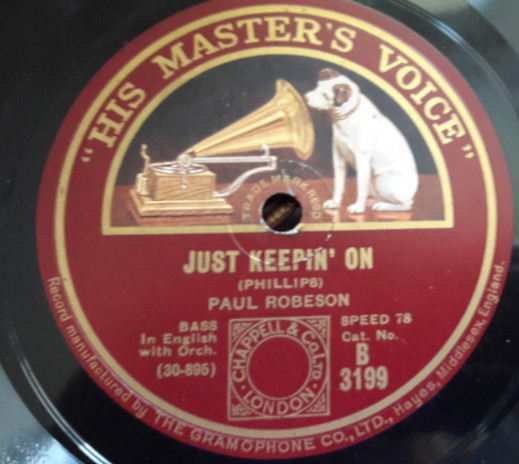 Paul Robeson - Just keepin' on - HMV B. 3199