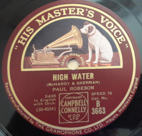 Paul Robeson - High Water / Mammy is Gone - HMV B.3663 E++