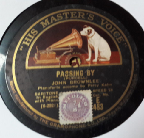 John Brownlee - Passing By - HMV E.483 E+