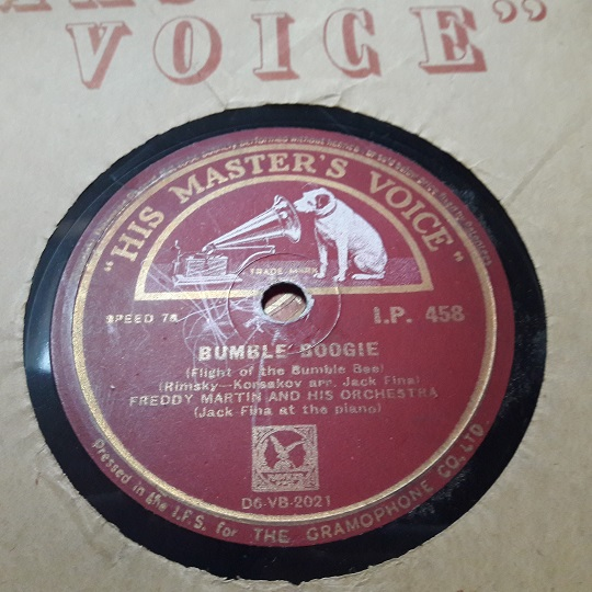 Eddie Fisher - Bumble Boogie - HMV I.P. 488 Irish Pressing