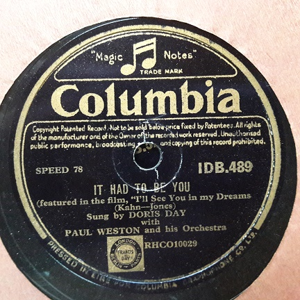 Doris Day - It had to be you - Columbia IDB.489 Irish Pressing