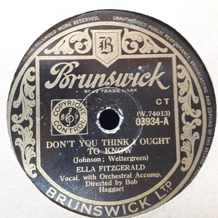 Ella Fitzgerald - Don't you think I ought to know - Brunswick