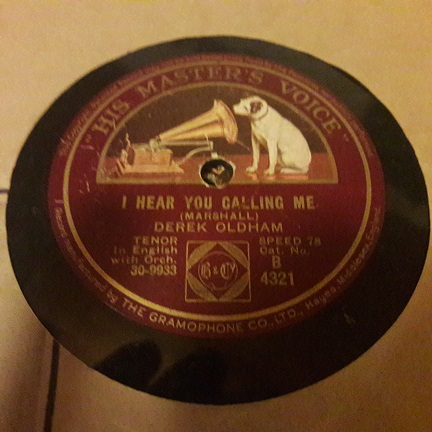 Derek Oldham - I hear you calling me - HMV B.4321