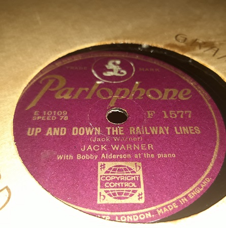 Jack Warner - Up and down the Railway Line - Parlophone F.1577