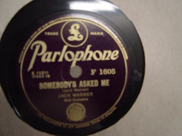 Jack Warner - Somebody's asked me - Parlophone F.1605