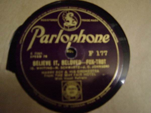 Harry Roy - Believe it beloved - Parlophone F.177