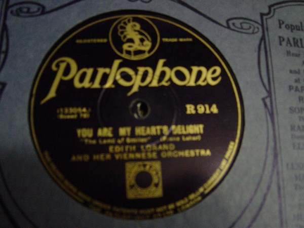 Edith Lorand - You are my hearts delight - Parlophone R.914