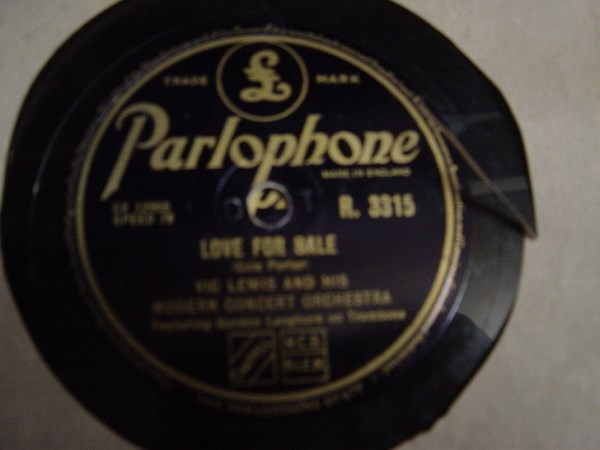 Vic Lewis - Love for Sale - Parlophone R. 3315