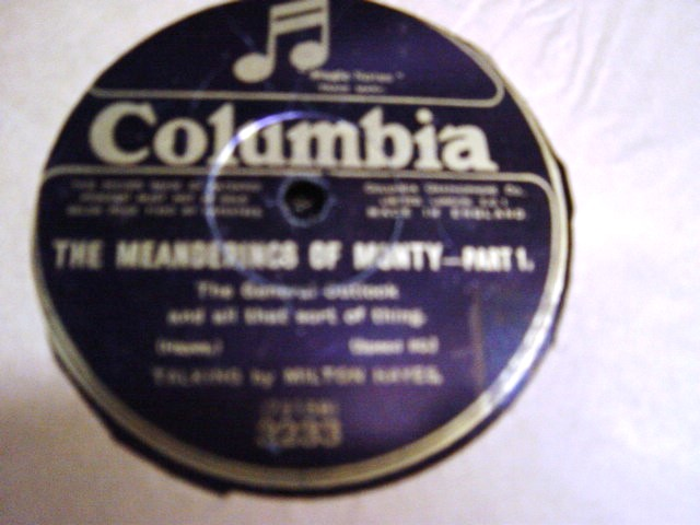 Milton Hayes - Meanderings of Monty - Pt. 1 & 2 - Columbia 3233