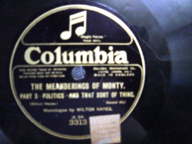 Milton Hayes - Meanderings of Monty - Pt. 3 & 4 - Columbia 3313
