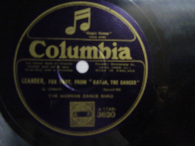 Hannan Dance Band - Just for a Night - Columbia 3620