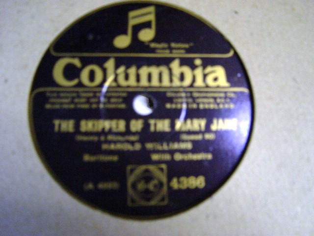 Harold Williams - tHE Skipper of The Mary Jane - Columbia 4386
